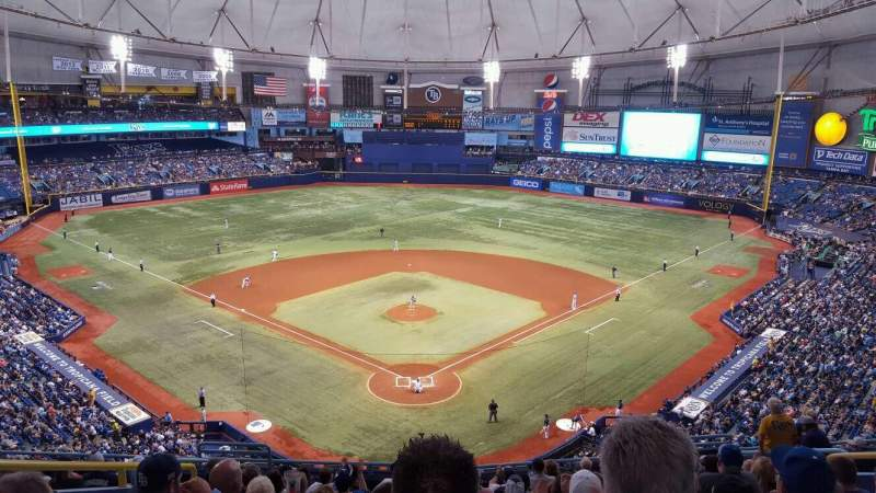 Seating view for Tropicana Field Section 300 Row N Seat 6
