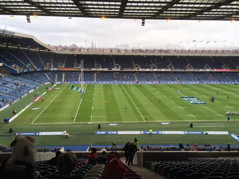 Seating view for Murrayfield Stadium Section 32 Row LL Seat 10