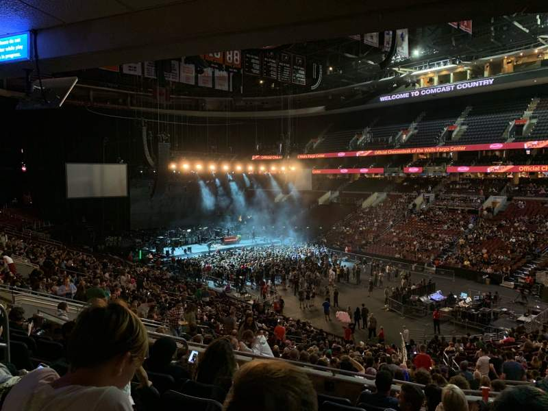 Seating view for Wells Fargo Center Section Club Box 4 (CB4) Row 6 Seat 17