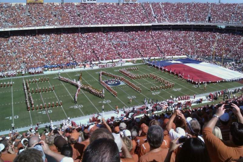 Seating view for Cotton Bowl Section 108 Row 32 Seat 21