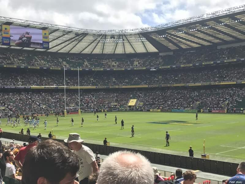 Twickenham Stadium, section: L22, row: 21, seat: 109