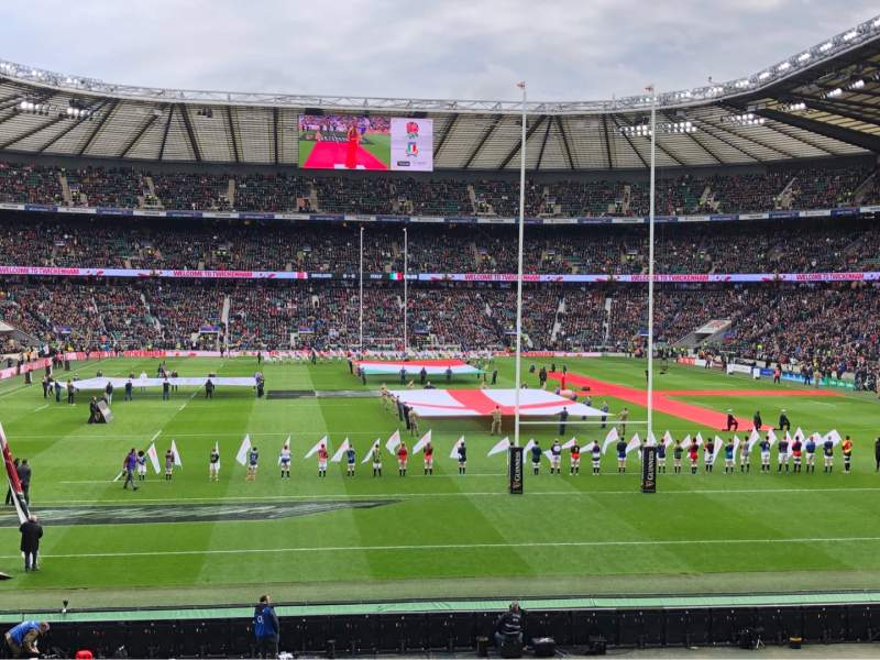 Seating view for Twickenham Stadium Section L16 Row 29 Seat 160