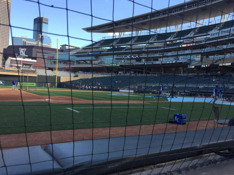 Seating view for Target Field Section 14 Row 1 Seat 9