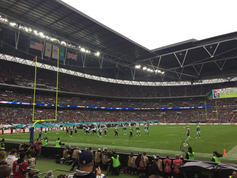 Seating view for Wembley Stadium Section 109 Row 7 Seat 207