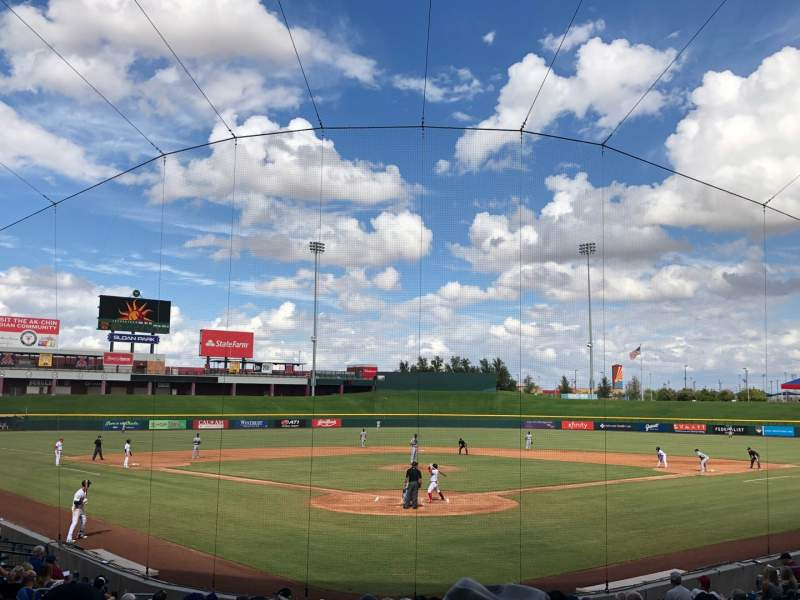 Seating view for Sloan Park Section 111 Row 17 Seat 18