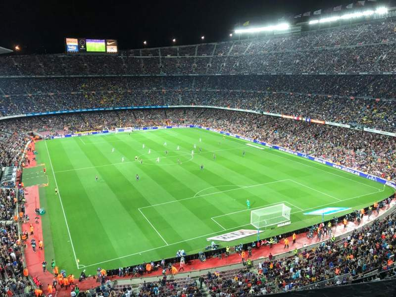 Seating view for Camp Nou Section 416 Row 1 Seat 10