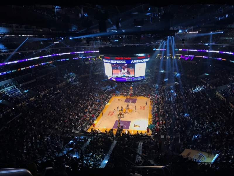 Seating view for Staples Center Section 308 Row 7 Seat 26