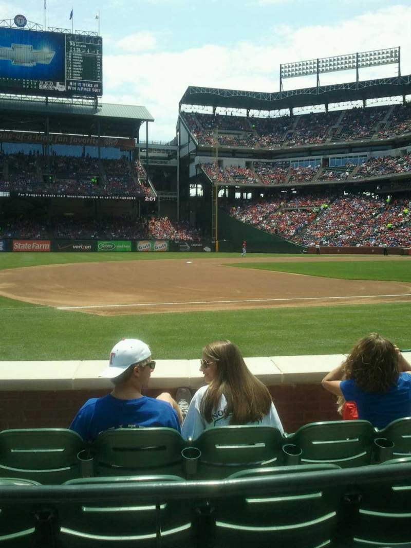 Seating view for Globe Life Park in Arlington Section 17 Row 2 Seat 4