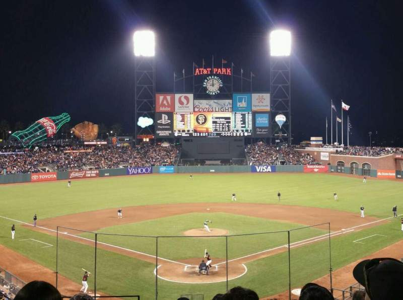 Seating view for Oracle Park Section 215 Row I Seat 11