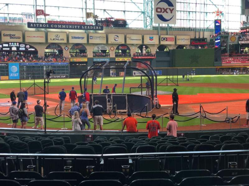 Seating view for Minute Maid Park Section 120 Row 18 Seat 7