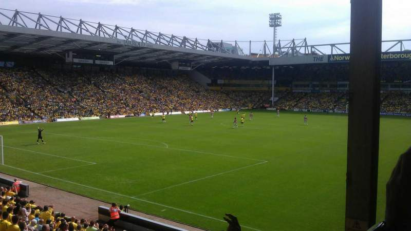 Carrow Road, Section Thorpe Corner (The Snakepit), Row N
