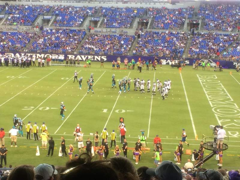 Seating view for M&T Bank Stadium Section 150 Row 42