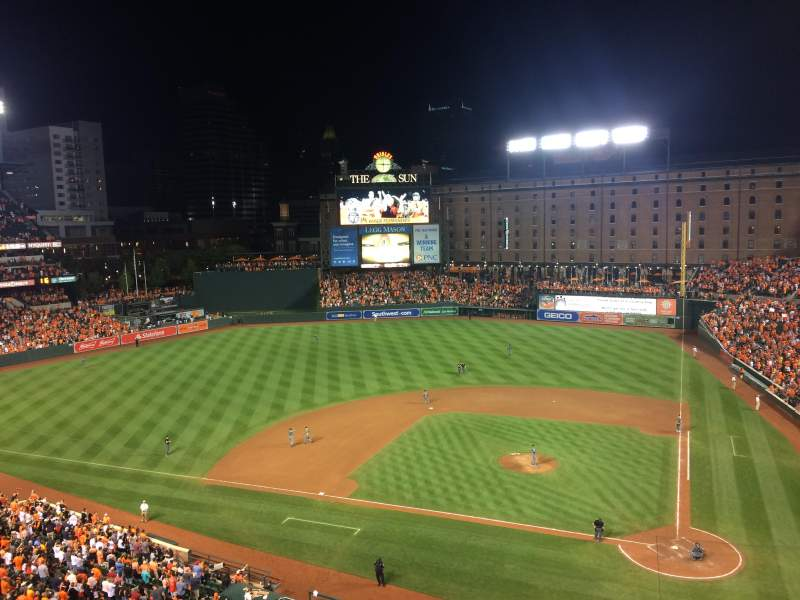 Seating view for Oriole Park at Camden Yards Section 348 Row 3