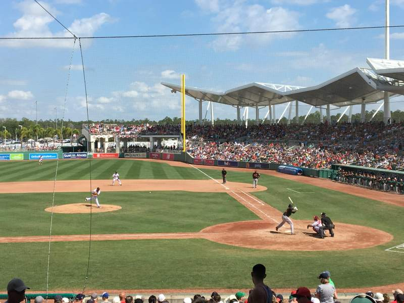 Seating view for JetBlue Park Section 206 Row 7