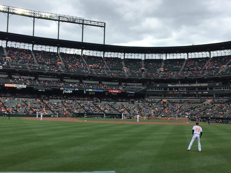Seating view for Oriole Park at Camden Yards Section 84 Row 1