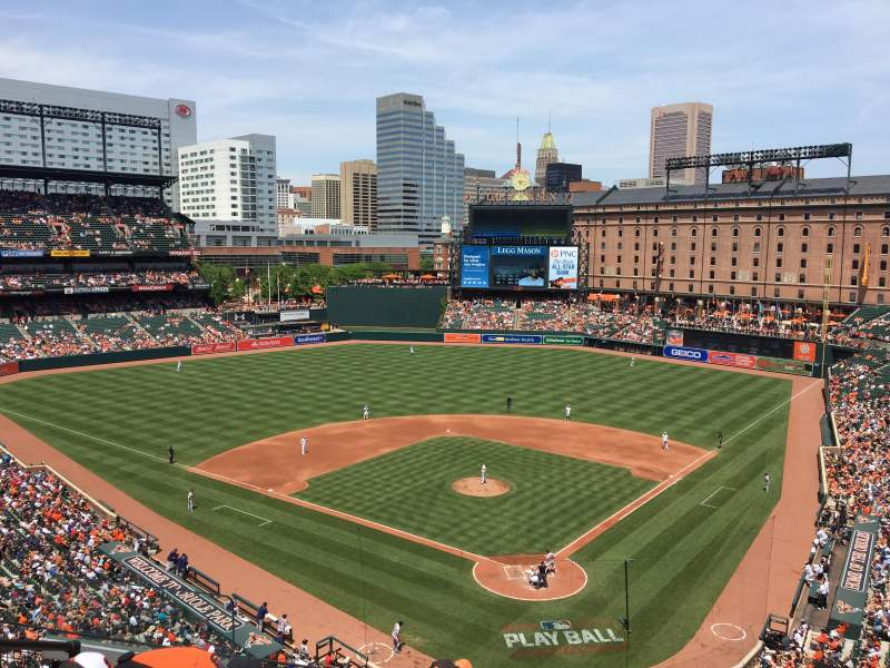 Seating view for Oriole Park at Camden Yards Section 340 Row 5