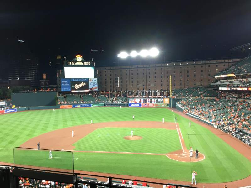 Seating view for Oriole Park at Camden Yards Section 244 Row 4