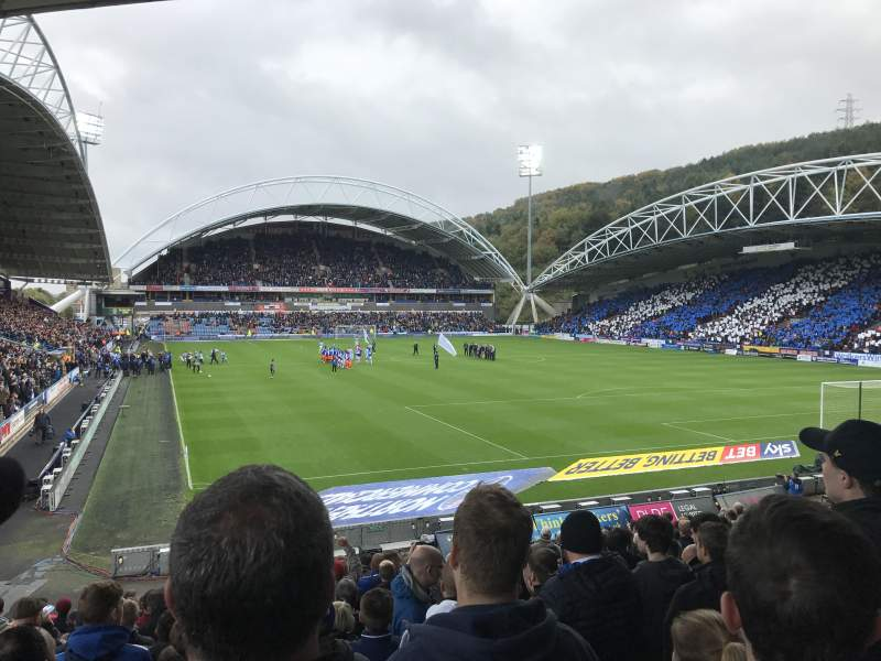 Seating view for John Smith's Stadium Section The Chadwick Lawrence stand Row T Seat 142