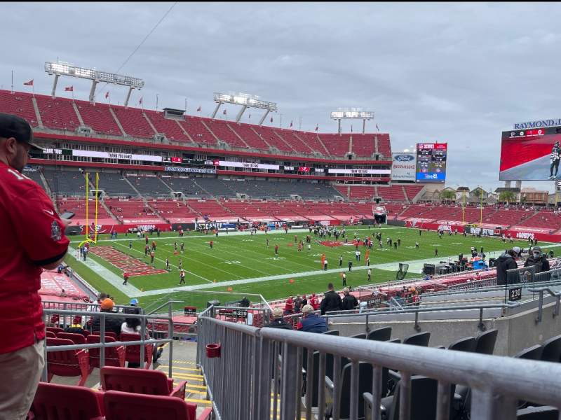 Seating view for Raymond James Stadium Section 229 Row J Seat 4