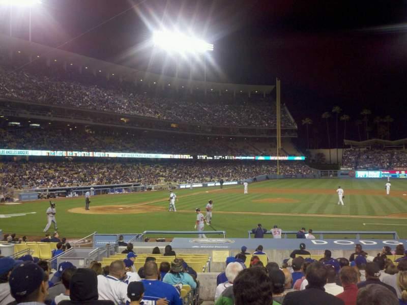 Dodger Stadium, section 18FD, row O, seat 1 - Los Angeles Dodgers vs Washington Nationals ...