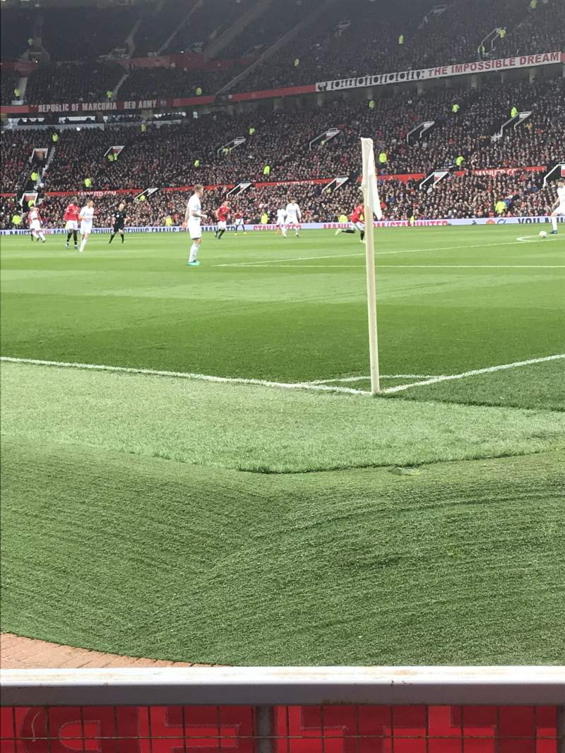 Seating view for Old Trafford Section E132 Row CC Seat 20