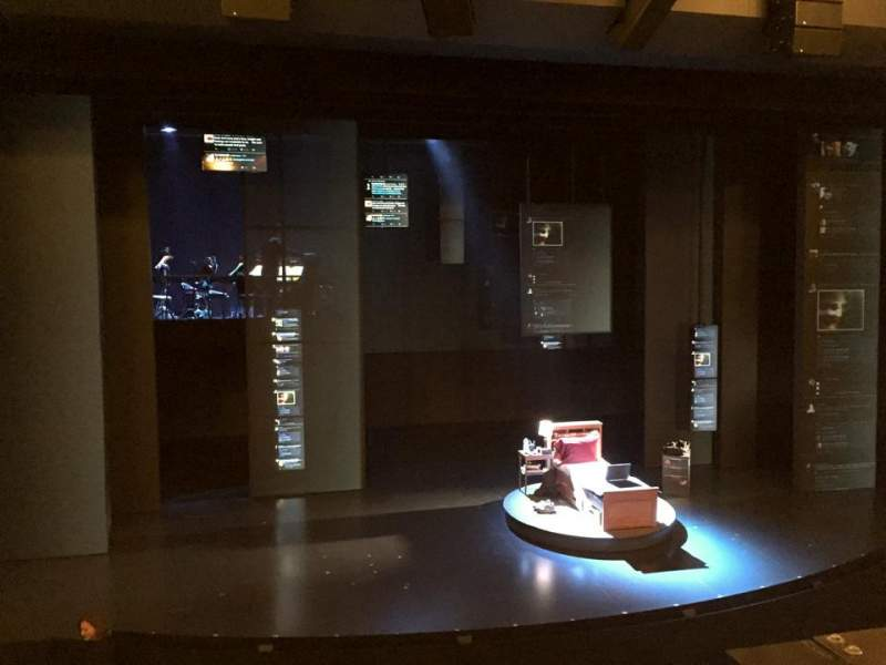 Seating view for Music Box Theatre Section Mezzanine Row A Seat 114