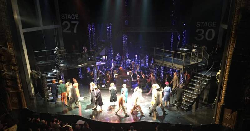 Seating view for Palace Theatre (Broadway) Section Mezzanine Row B Seat 114