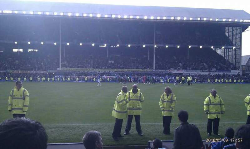 Seating view for Goodison Park Section Paddock Row 7 Seat 95