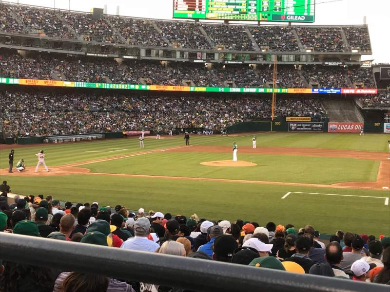 Seating view for Oakland Alameda Coliseum Section 112R Row 21 Seat 3