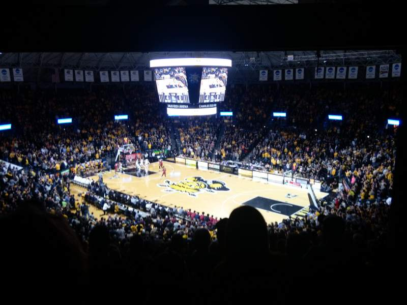Seating view for Charles Koch Arena Section 118 Row 34