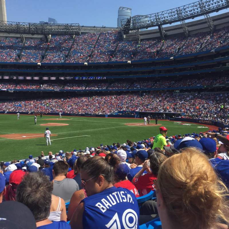 Seating view for Rogers Centre Section 129R Row 18 Seat 11