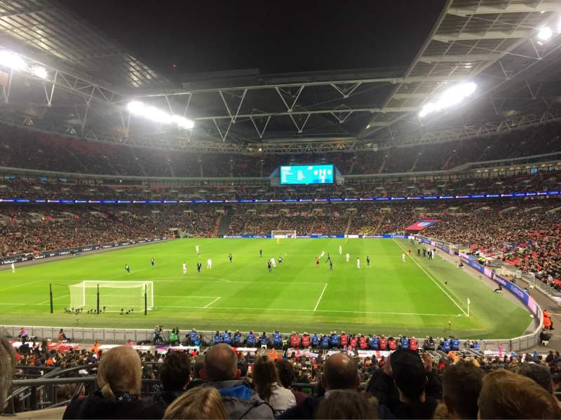 wembley stadium section 110 row 37 seat 219 england. Black Bedroom Furniture Sets. Home Design Ideas