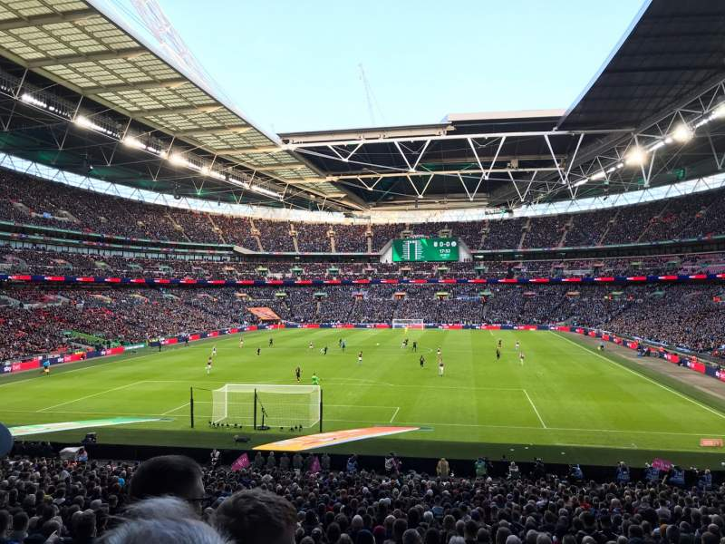 Seating view for Wembley Stadium Section 132 Row 34 Seat 289
