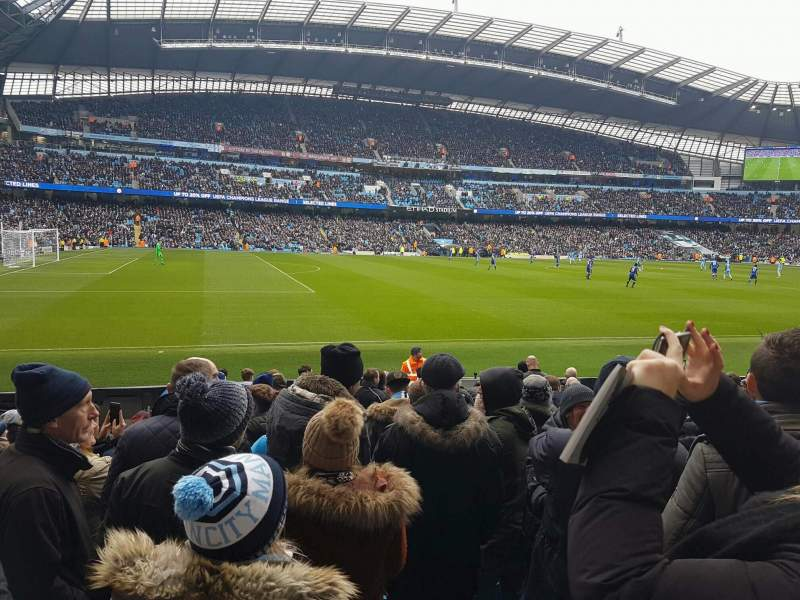 Seating view for Etihad Stadium (Manchester) Section 109 Row L Seat 201