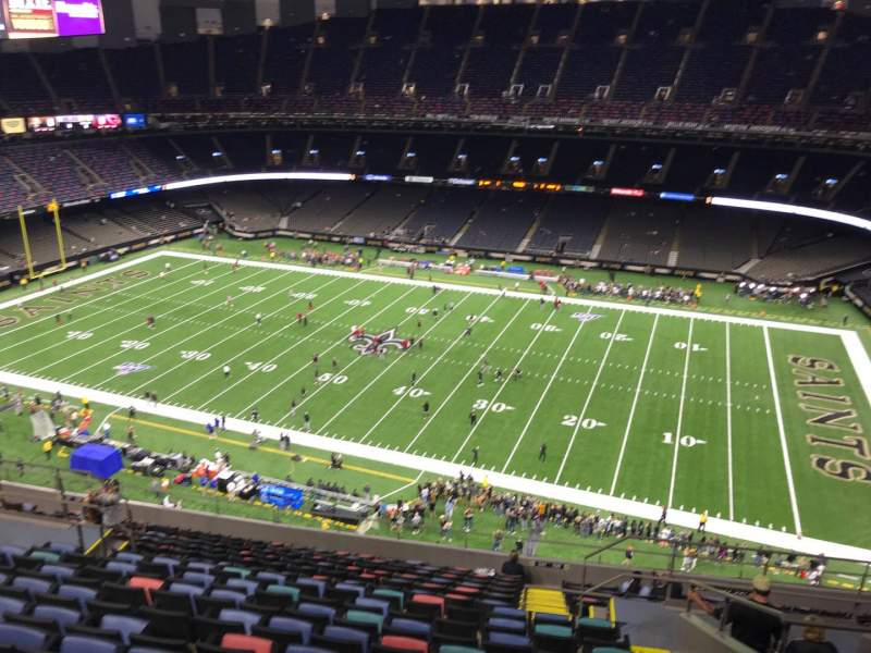 Seating view for Caesars Superdome Section 637 Row 17 Seat 8