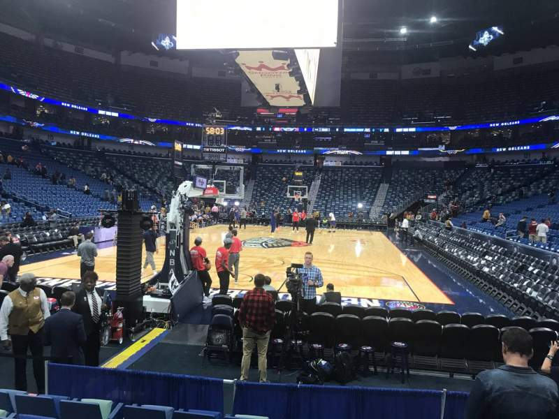 Seating view for Smoothie King Center Section 106 Row 6 Seat 5