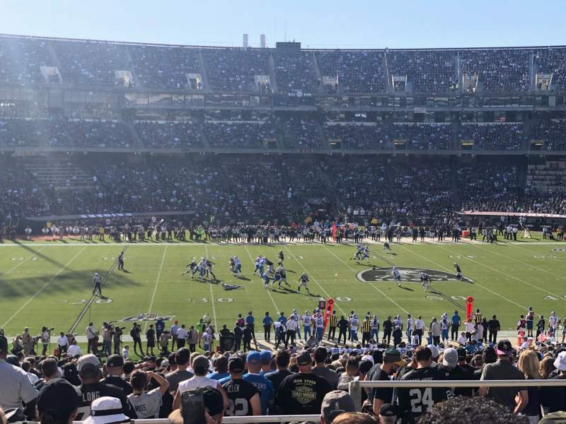 Seating view for Oakland Coliseum Section 144 Row 45 Seat 12