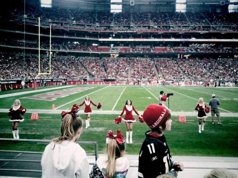 Seating view for University of Phoenix Stadium Section 112 Row 3 Seat 18