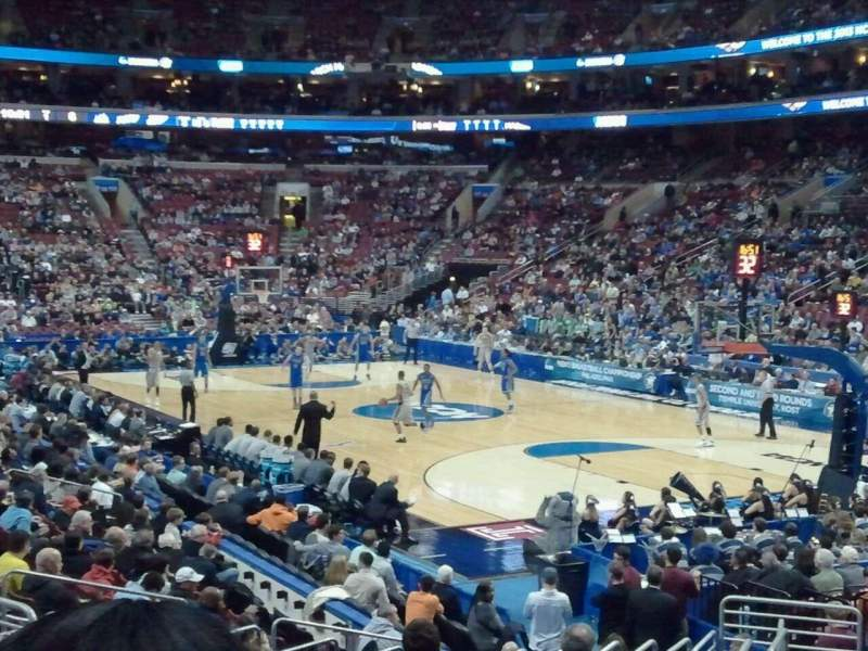 Seating view for Wells Fargo Center Section 105 Row 15 Seat 2