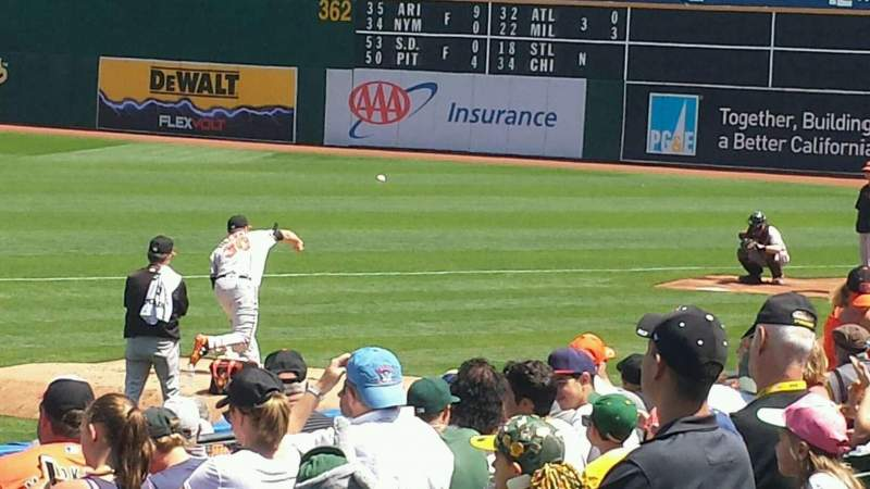 Seating view for Oakland Alameda Coliseum Section 110 Row 13 Seat 16
