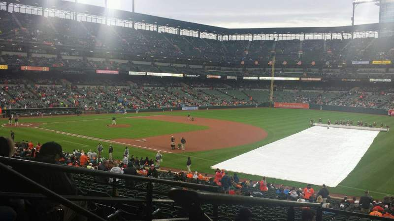Seating view for Oriole Park at Camden Yards Section 11 Row 6 Seat 23