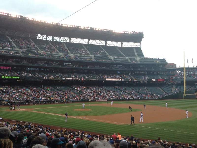 Seating view for T-Mobile Park Section 117 Row 34 Seat 4