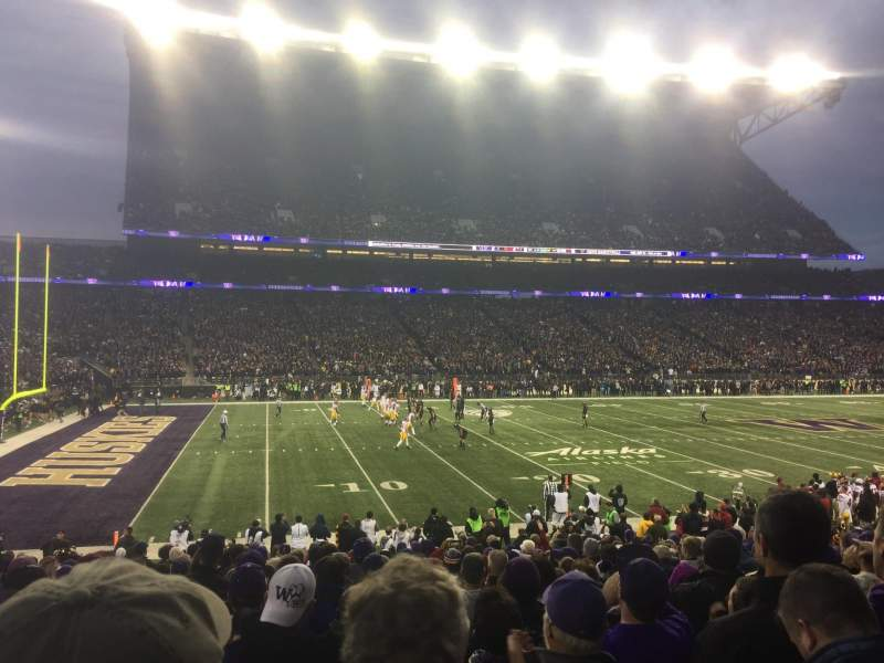 Seating view for Husky Stadium Section 109 Row 16 Seat 6