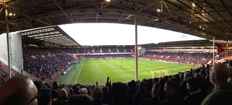Bramall Lane, section: Kop Stand, row: KK, seat: 063