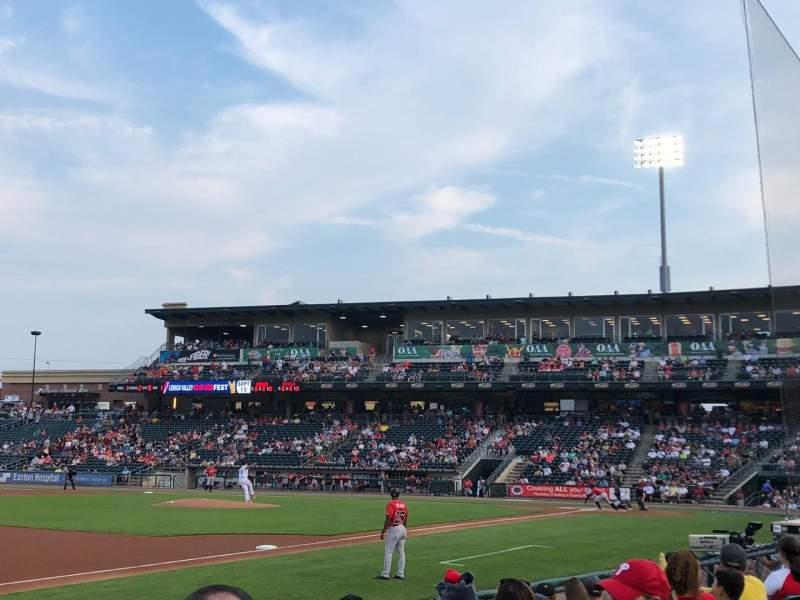 Seating view for Coca-Cola Park Section 119 Row G Seat 18
