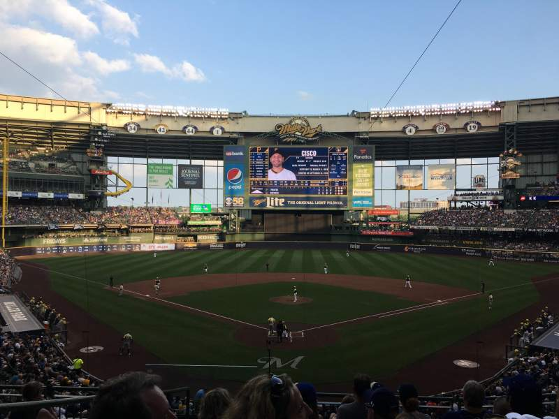 Seating view for American Family Field Section 218 Row 8 Seat 2