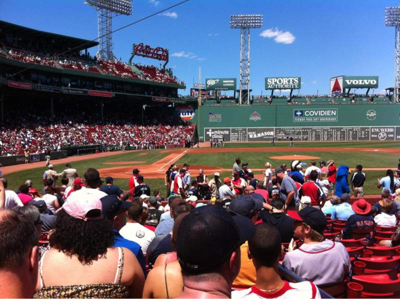 Seating view for Fenway Park Section Field box 37 Row M