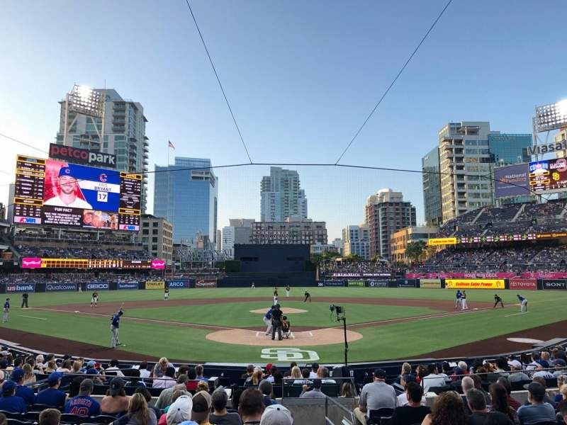 PETCO Park, section: 102, row: 18, seat: 1