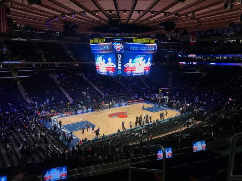 Madison Square Garden: Madison Square Garden, Section 221, Row 5, Seat 20
