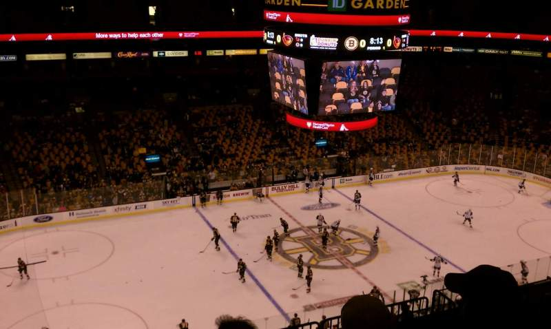 Seating view for TD Garden Section Bal 318 Row 10 Seat 13